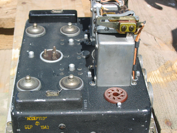 World War 2 radio after cleaning
